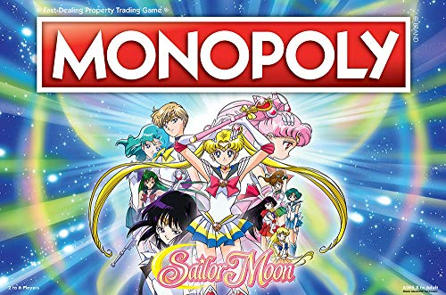 USAOPOLY: Monopoly Sailor Moon Board Game | Based on The Popular Anime TV Show | Custom Sailor Moon Tokens, Money and Game Board | Officially Licensed Sailor Moon Merchandise