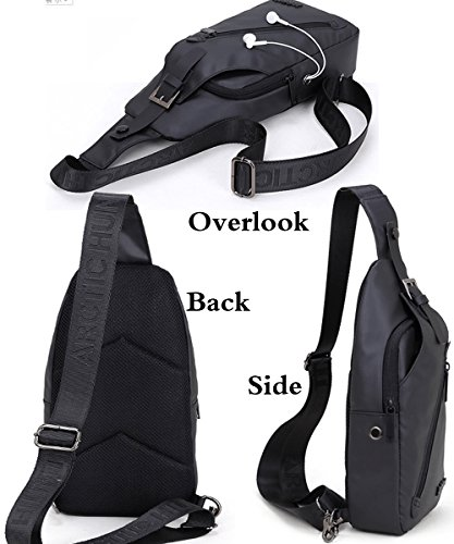 Purse Messenger Rullar Travel Sling School Men Fanny Hiking Shoulder Multipurpose Waterproof Bags Women Business Black Versatile Chest Backpack Daypack Crossbody zgUS4wxqz