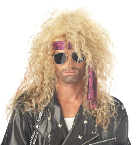 Halloween Rock Band Costumes (California Costumes Men's Heavy Metal Rocker Wig,Blonde,One Size)