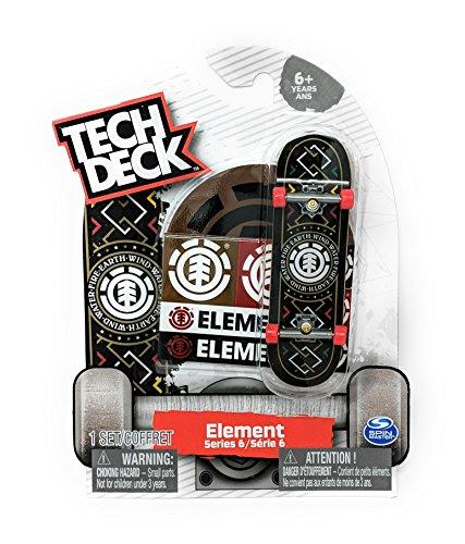 Tech Deck ELEMENT Skateboards Series 6 Wind Water Fire Earth Rare Fingerboard with Stickers (Element Fire Sticker)