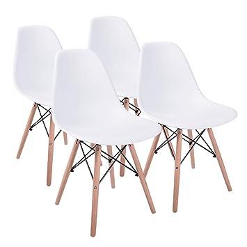 Jinhuichair Junto de 4 sillas de plástico para Silla de ...