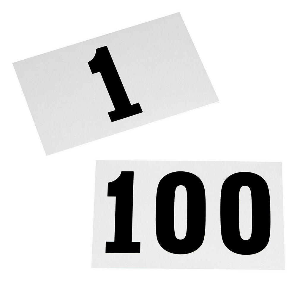 Dossards de 1 /à 100