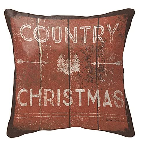 Primitives by Kathy Holiday Country Christmas Throw Pillow 12-Inch Square