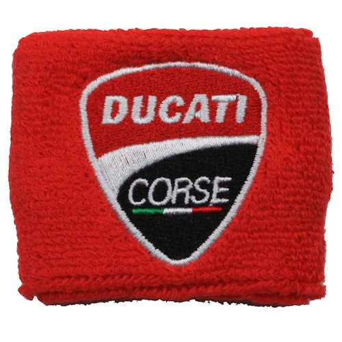 Ducati NEW Corse Red Clutch Reservoir Sock Cover Fits 748, 749, 848, 848 Evo, 916, 996, 998, 999, 1598, 1198, ST2, ST3, ST4, Streetfighter, Hypermotard, Multistrada, Monster 1150