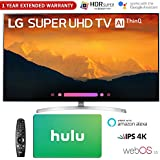 LG 55-Class 4K HDR Smart LED AI Super UHD TV w/ThinQ 2018 Model (55SK9000PUA) with Hulu $100 Gift Card & 1 Year Extended Warranty