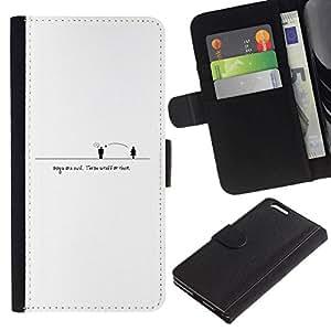 All Phone Most Case / Oferta Especial Cáscara Funda de cuero Monedero Cubierta de proteccion Caso / Wallet Case for Apple Iphone 6 PLUS 5.5 // People Distance