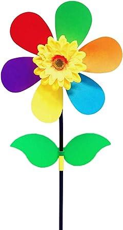 certylu Juguete para niños, Molino de Viento de Girasol Colorido Molinillo de Viento Molinillo de jardín Jardín Decoración Niños Juguete de Bricolaje: Amazon.es: Hogar