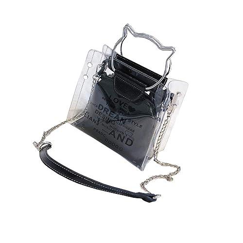 amazon com meowday cat ear pvc shoulder bag transparent handbag
