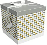 EndlessArtUS Sienna 12x12x12 Gift Box Pop up in Seconds Comes with Decorative Ribbon Mounted on The lid A Gift Tag and Tissue Paper - No Glue or Tape Required: more info