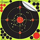 """25 Pack - 12"""" """"Stick & Splatter"""" - Adhesive SPLATTERBURST Shooting Targets - Instantly See Your Shots Burst Bright Fluorescent Yellow Upon Impact - Great for all firearms, rifles, pistols, AirSoft, BB and Pellet guns!"""