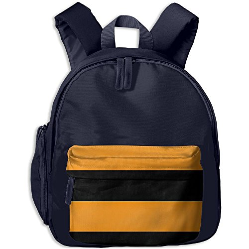 Halloween Stripe Pumpkin Background Kid's School Bags Adjustable Shoulder Backpack For School And Travel Time