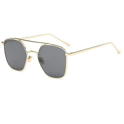 NUVOLA occhiali da sole occhiali UV donna uomo fashion piazza lente grigio cornice oro buon regalo san valentino FKgd6UP7M