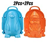 Snow Mold Creative 3D DIY Penguin Winter Outdoor Playing Toy for Children