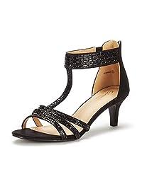 DREAM PAIRS Women's Roxanne Fashion Stilettos Open Toe Pump Heeled Sandals