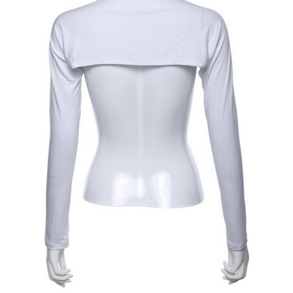 Women Muslim Modal Hijab One Piece Sleeves Shoulder Arm Cover Shrug Bolero Sleeves Tops White Gosear