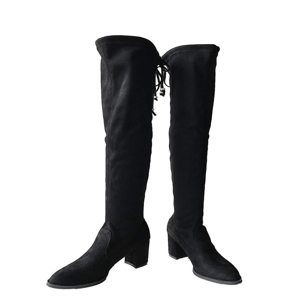 Damen - - - Stiefel Knie High Heels Sexy Dünne Bein Gummi Stiefel Hat Tipps Und Hohe Stiefel. fde8e4
