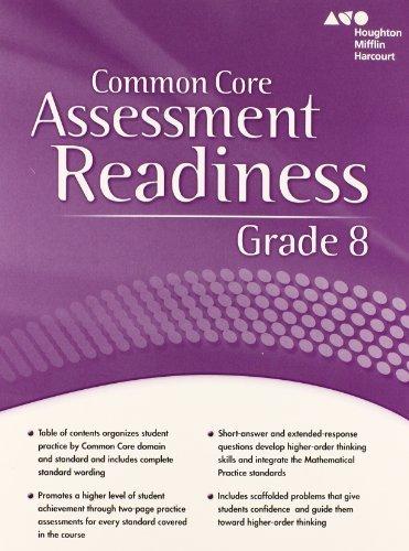 Holt McDougal Mathematics Common Core: Assessment Readiness Workbook