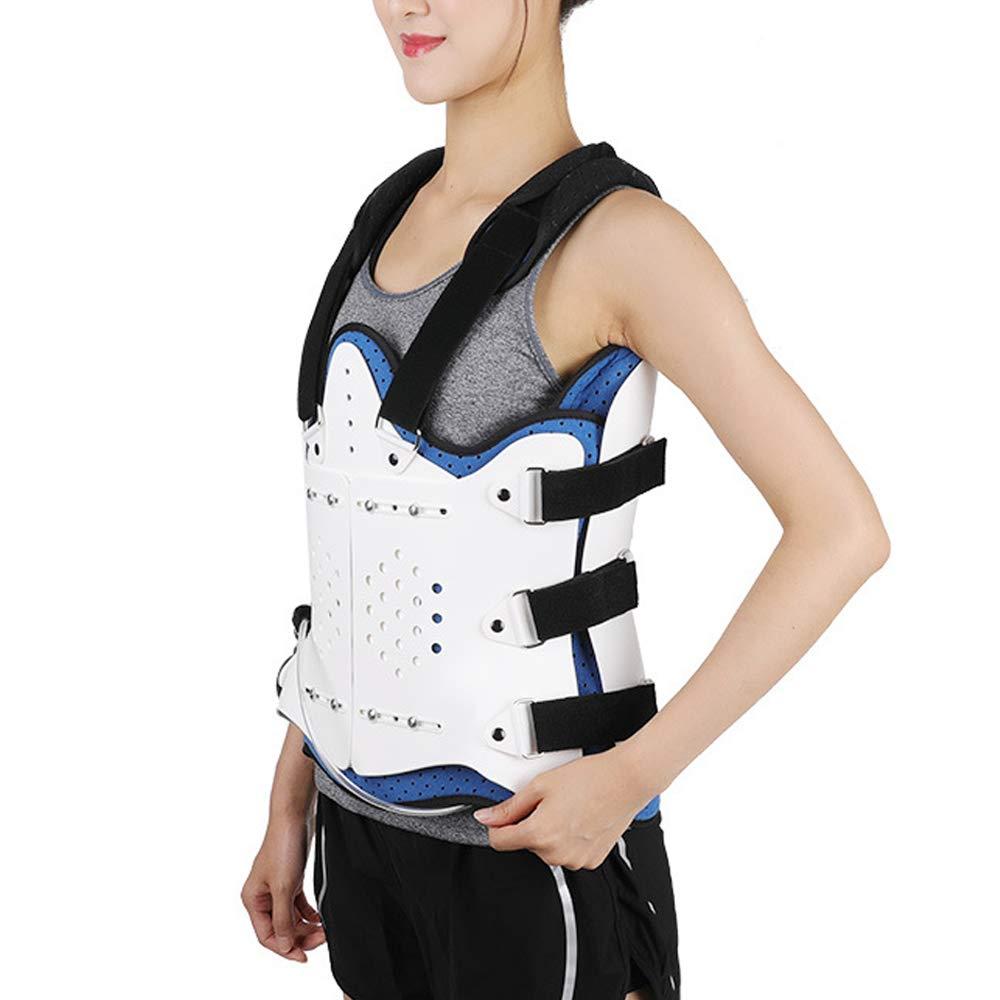 AMhuui Thoracolumbar Orthopedic Braces Fixation, Adjustable Compression Fracture Brace, Thoracolumbar Back Posture Corrector Brace,White,Withairbag