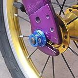 Prettyia 4Pcs Durable Track Wheel Nuts Bicycle
