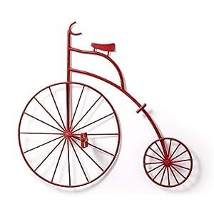 Laforma - Bicicleta decorativa metal rojo r04