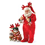 Department 56 Possible Dreams Wrapped Up in Holiday Spirit Santa Figurine