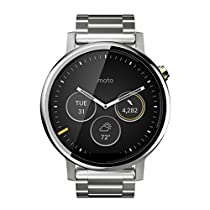 Motorola Moto 360 (2nd Gen.) - Mens 46mm, Silver with Silver Metal