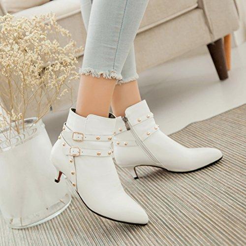 AIYOUMEI Women's Classic Boot White yZdUYz