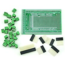 Electronics-Salon Prototype Screw/Terminal Block Shield Board Kit For Arduino MEGA-2560 R3.