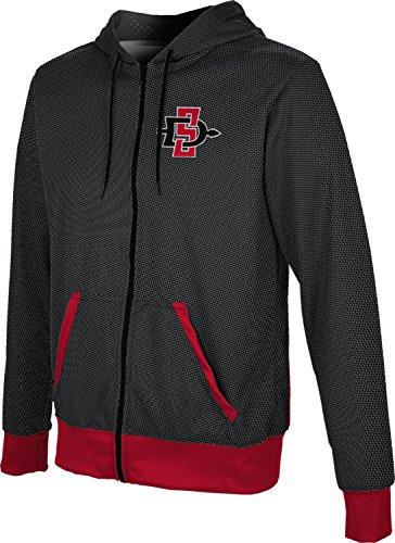 Prep Full Zip Hoodie (ProSphere San Diego State University Men's Fullzip Hoodie - Embrace (Large))