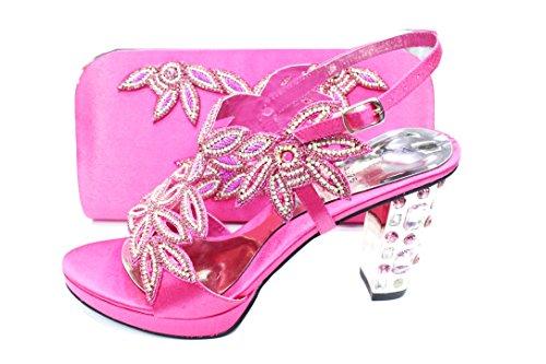 para T de amp; de Material mujer vestir Sandalias Pink Sintético Wear UK Walk xzqwapaPZ