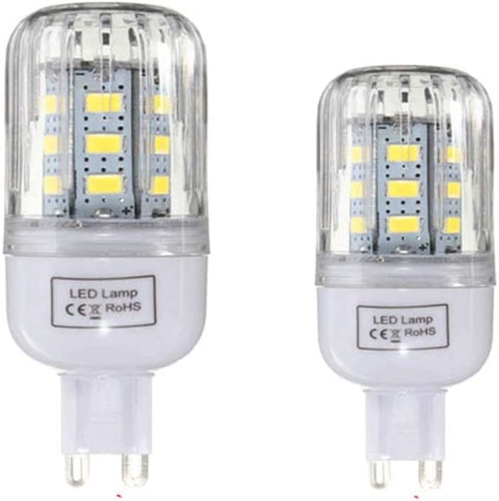 Elegdy G9 Dimmable 3W AC110V LED Bulb 24 SMD 5730 Corn Light Lamps Size : Pure White G9