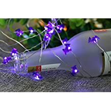 Mini Skater Harvest Pumpkin Party Mini Fairy String Lights ,Battery-powered ,Copper Wire, Indoor/Outdoor Decoration ,14ft 40 LEDs (Mini Bat)