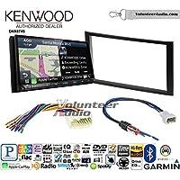 Volunteer Audio Kenwood DNX874S Double Din Radio Install Kit with GPS Navigation Apple CarPlay Android Auto Fits 2010-2013 Honda Insight