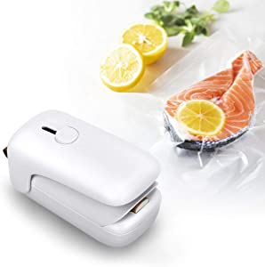 GREATSSLY Mini Bag Sealer, Portable Bag Heat Sealer Machine with Cutter, Handheld 2 in 1 Chip Bag Sealer for Food Saver Bags Snack Cookie Fruit Storage Plastic Poly Mylar Bags(Batteries NOT Included)