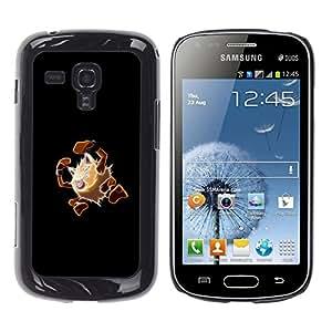 A-type Arte & diseño plástico duro Fundas Cover Cubre Hard Case Cover para Samsung Galaxy S Duos S7562 (Meter Monster Marrón)