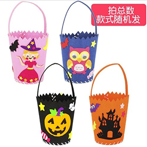 DIY Happy Halloween Sugar Bag for Children Trick or Treat (black) -