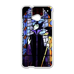 Happy Evil Witch Design Plastic Case Cover For HTC M7