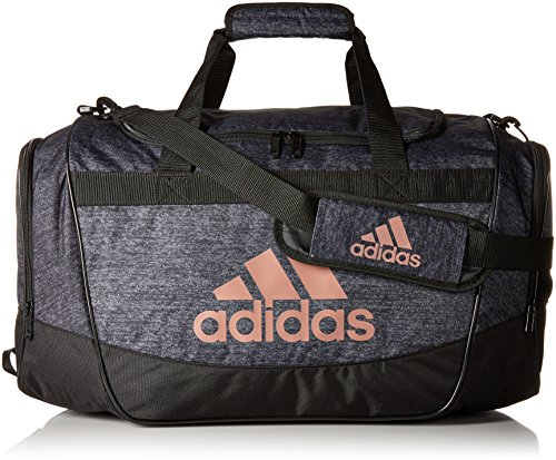 adidas Defender II Medium Duffel Bag, One Size, Black Jersey/Black/Bronze