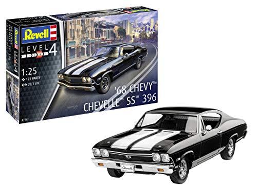 Revell GmbH Revell 07662 7662 1:25 1968 Chevy ChevellePLastic Model Kit, Multicolour, 1/25