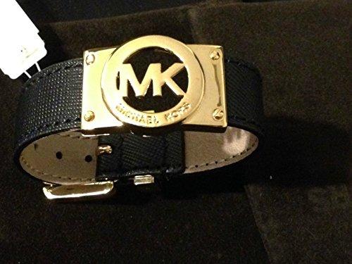Michael Kors Buckle Bracelet Saffiano Black Mkj3862