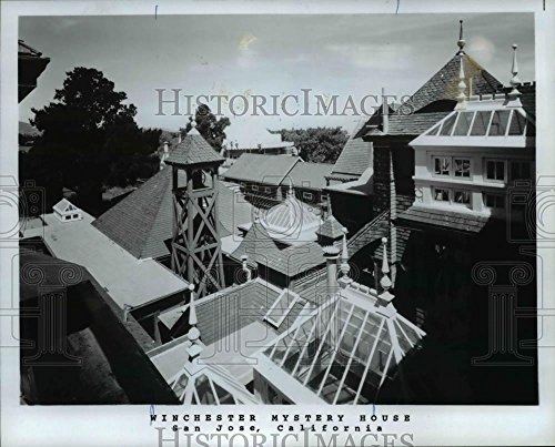 Vintage Photos 1982 Press Photo Rambling roof lines of Winchester Mystery House - orb25592