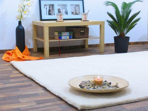Berber Teppich natur aus 100% Schurwolle Rabat 15/15 simple Wollweiss in 27 Größen, Größe: 170x240 cm