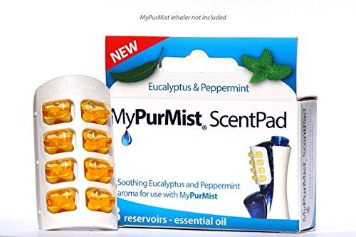 MyPurMist ScentPad eucalyptus et de menthe poivrée, huit réservoirs