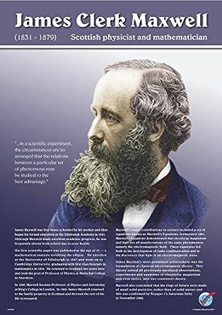 James Clerk Maxwell Vinyl Poster 16 In X 23 In Amazon Com