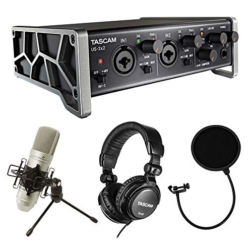 Tascam Trackpack 2x2 Recording Package with Pop Filter ()