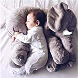 Kenmont Elephant Pillow Throw Cushion Sleeping elephant Stuffed Plush Pillows Plush Soft Toys for Kids Baby Toddler Infant gifts (Grey)