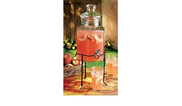 bigkitchen cristal bebida dispensador de bebidas tarro y función atril limonada: Amazon.es: Hogar
