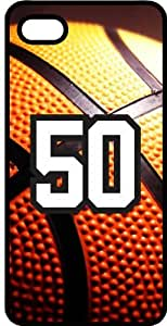 Basketball Sports Fan Player Number 50 Black Plastic Decorative iphone 4s Case