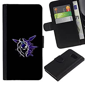 KLONGSHOP // Tirón de la caja Cartera de cuero con ranuras para tarjetas - Cloyster P0kemon - Samsung Galaxy S6 //