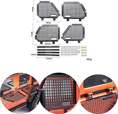 JVSISM 4Pcs Metal Foldable Car Window Protective Net for 1//10 Rc Crawler Car 4 Window Guard Net Guardrail